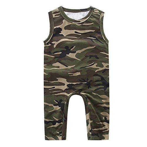 Kidsa 0-2T Unisex Baby Boys Girls Summer Camo Tank Tops Romper Jumpsuit