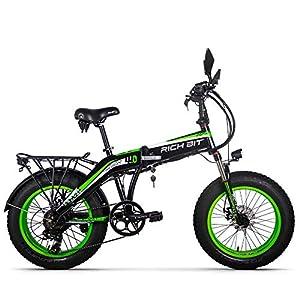 Ricci Bit Bicicletta elettrica da Uomo Fat Tire Beach Bike 20 Pollici RT-016 48V 500W 9.6Ah
