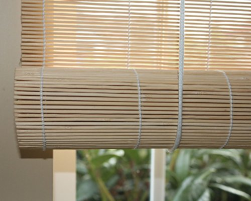 Seta Direct, Natural Bamboo Matchstick Roll Up Window Blind 36-Inch Wide by 72-Inch Length (Natural Beige)