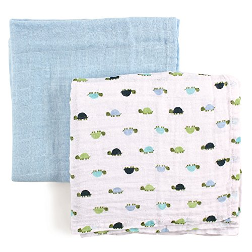 Luvable Friends Swaddle Blankets Turtles product image