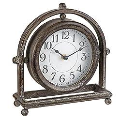 Foreside Home & Garden Round Table Clocks