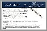 4 CT AGS Certified I1-I2 Clarity Diamond Tennis Bracelet 14K White Gold (G-H)