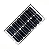 ALEKO SP30W24V 30 Watt 24 Volt Monocrystalline Solar Panel for Gate Opener Pool Garden Driveway