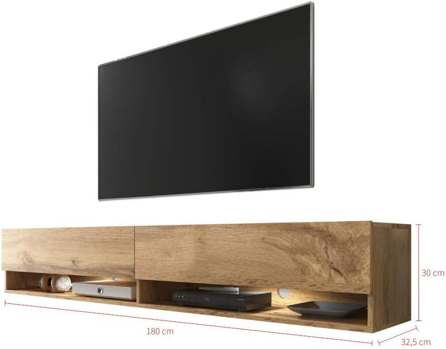 Selsey - Mueble para TV, efecto roble Wotan, 180 x 32,5 x 30: Amazon.es: Juguetes y juegos