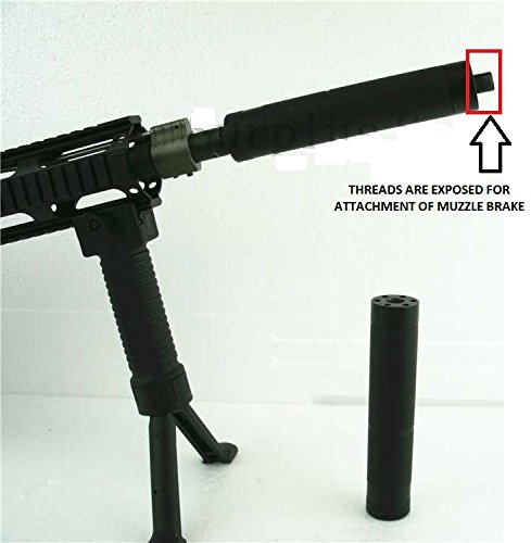 """Ultimate Arms Gear Model 4/15 Slip Over 1/2""""x28 Muzzle Brake Break Faux Mock Fake Inert Display Can Slips Over & Keeps Barrel Threads Exposed for Attachments 1/2x28 .223 5.56 TPI Thread Pattern"""