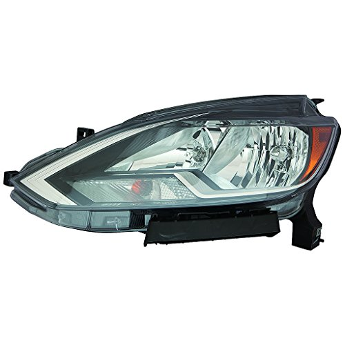 Fits Nissan Sentra 2016 2017 Headlight Assembly Black Trim Driver Side (NSF Certified) -
