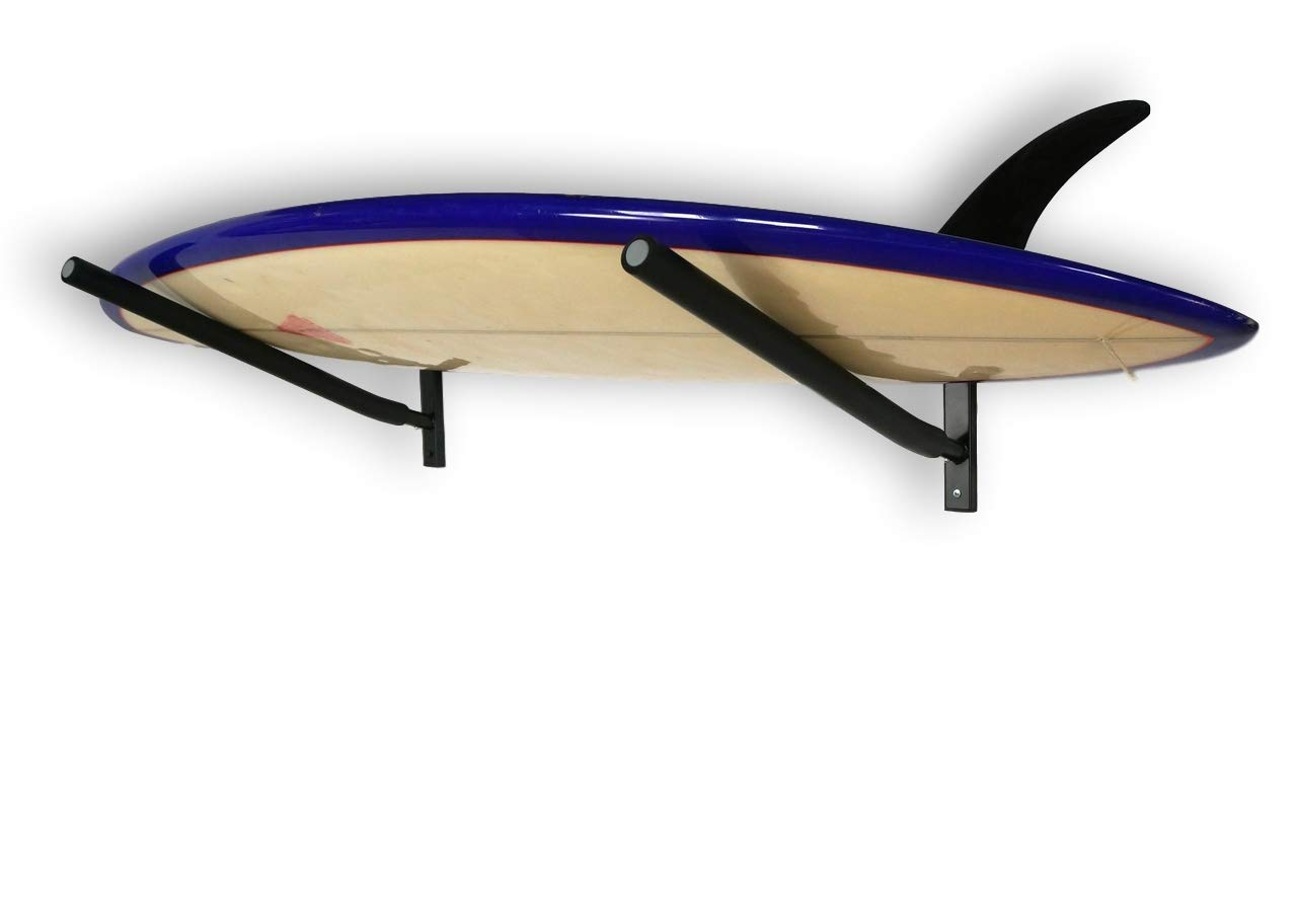 SPAREHAND Single Wall Mount Rack with Angled Padded Arms for 1 Surfboard or SUP Paddle Board by SPAREHAND