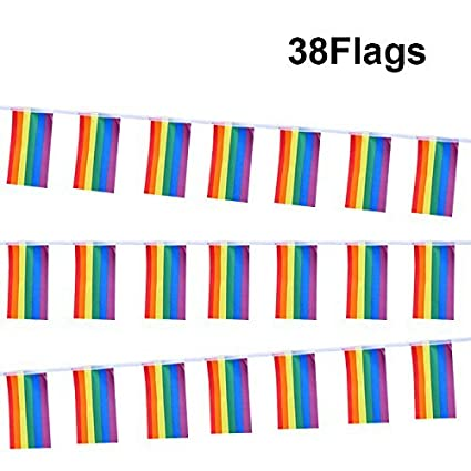 Rainbow Desktop Lesbian Gay Pride Colorful Decoration Flag Banners No 4 Toy Toys & Hobbies