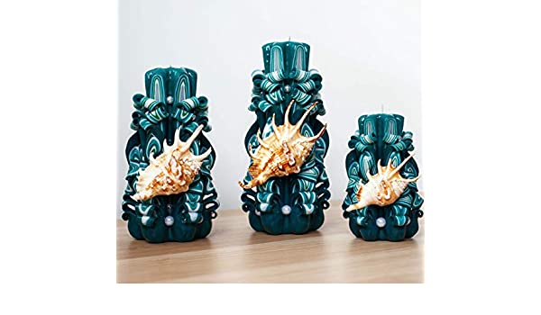Elas artesanales talladas en aguamarina