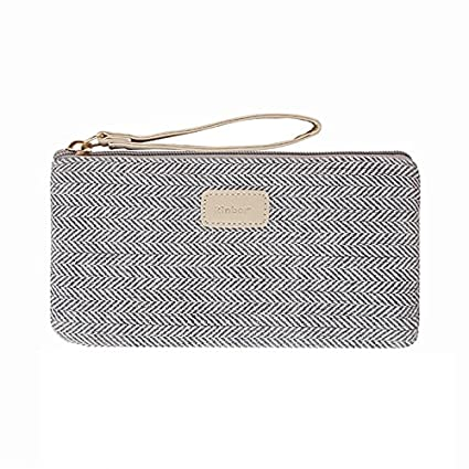 Kinbor Pen Pencil Case Stationery Pouch Bag Case Cosmetic Bags Silvery by Kinbor