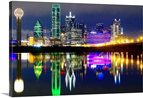 Downtown Dallas Skyline Reflection