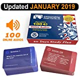 img - for US Citizenship test Civics Flash Cards for the Naturalization Exam 2019 | Includes Online Audios with all official 100 USCIS Questions and Answers | USCIS N-400. Get ready for the Immigration Test in only 20 days. book / textbook / text book