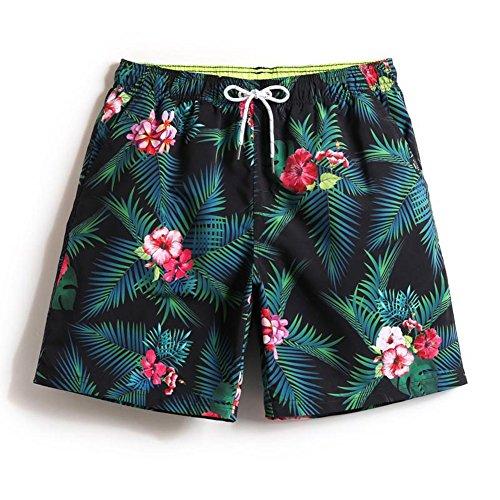 DraFenn Shorts Men Swiming Trunks Swimwear Men Beach Surf Quick Dry Swimsuits Bathing Liner Sexy Print Swim Short 1525 Male Have Liner XXXL