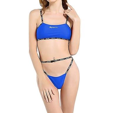 b01360b901093 Amazon.com: Gocheaper Women Sexy Buckle Solid Bikini Push-Up Padded Swimwear  Bathing Swimsuit Beachwear: Clothing