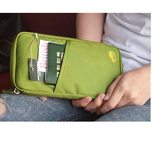 Reise Tasche Ausweise Kreditkarten Organizer kartenorganizer Reisetasche 3 Farben (grün)