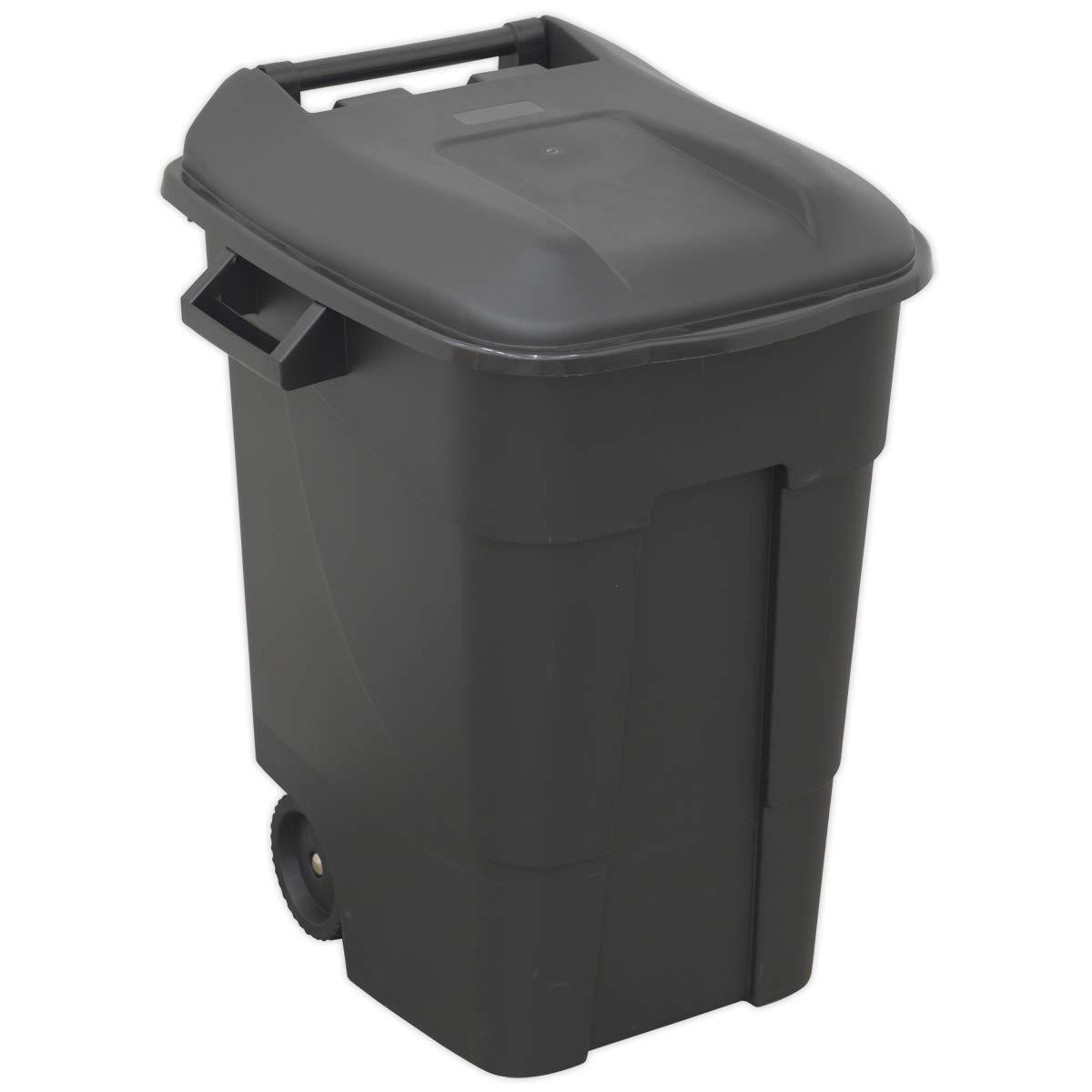 Sealey BM100 Wheelie Bin, Black, 250 Litre