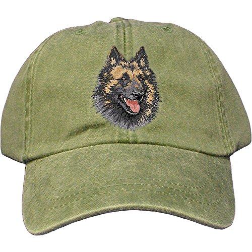 Belgian Tervuren Breed - Cherrybrook Dog Breed Embroidered Adams Cotton Twill Caps - Spruce - Belgian Tervuren