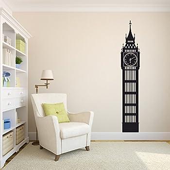 Big Ben London Clock Wall Decal - Working Clock Decoration - Clock Art Vinyl Decal Sticker  sc 1 st  Amazon.com & Amazon.com: Big Ben London Clock Wall Decal - Working Clock ...