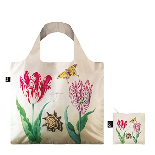 LOQI MUSEUM JACOB MARREL Irma Boom DNA 03 Einkaufstasche Reise-Henkeltasche, 50 cm, Two Tulips