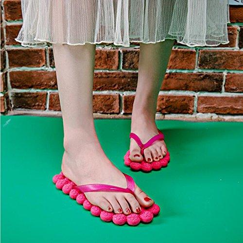 Scarpe Da Langmotai Scarpette Spiaggia Pantofole Di Sparto O Massaggio Di Lady Scarpe 4 Tela Jelly Estate pantofole vwEwg
