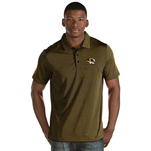 Antigua Striped Shirt Polo - University of Missouri Men's Quest Polo Shirt (X-Large)