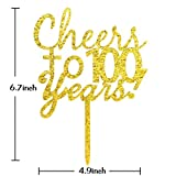 INNORU Cheers to 100 Years Cake Topper - 100th