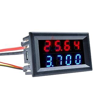High Precision DC 100V 200V 10A Voltmeter Ammeter Digital Display Panel Gauge