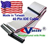 IDE 40Pin Ribbon Cable, 3 Connector 22 Inches