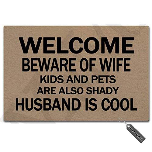 MsMr Doormat Entrance Floor Mat Funny Doormat Speak Friend...