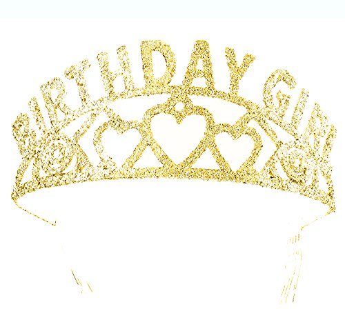 Forum Novelties Gold Birthday Girl Metal Glitter Tiara Crown