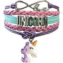 Unicorn Bracelet for Girls | Infinity Charm Bracelet | Unicorn Jewelry | Cute Handmade Bracelets Unicorn Accessories for Kids Teen Women | Wristband Love Bracelet Gifts