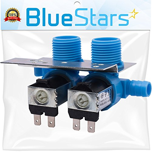 Whirlpool Washer Water Valve - Ultra Durable 285805 Washer Water Inlet Valve with Mounting Bracket by Blue Stars - Exact Fit for Whirlpool Kenmore Kitchenaid Washer - Replaces 292197 3349451 3354565