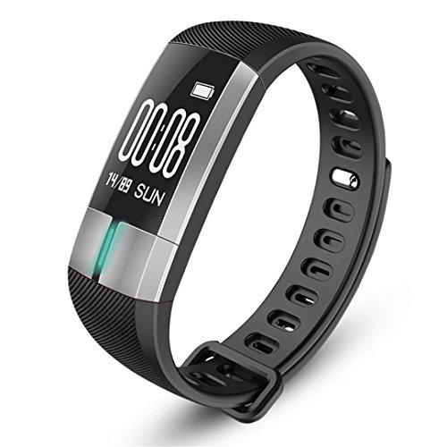 G20 Smartwatch, Bluetooth Smart Watch, Longay G20 Bluetooth Smart Watch Blood Pressure ECG Date Heart Rate Monitor Wristband (Black)