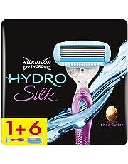 Wilkinson Sword Hydro Silk Scheermes voor dames, scheermes + 6 reservemesjes, geschikt voor brievenbus