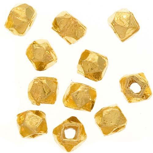 Beadaholique Bali Style Rough Vermeil Nuggets, 22K Gold, 3mm