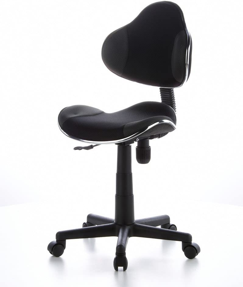 hjh OFFICE 633002 silla escritorio para ni/ños KIDDY GTI-2 tejido gris rojo ergon/ómico silla juvenil