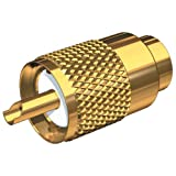 SHAKESPEARE Gold Plated PL-259 Connector wUG175 [SHA-PL-259-58-G]