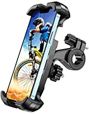 TEUMI Bike Phone Mount, [One-Hand Operation] 360° Rotatable Motorcycle Phone Mount, Bike Phone Holder for ATV MTB Scooter Compatible with iPhone 13/12/X/XS, Galaxy S20, 4.7-6.8 Inch Smartphones