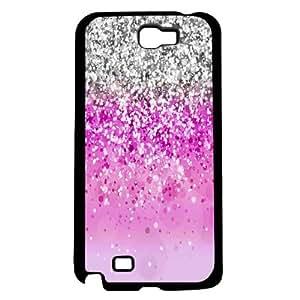 lintao diy Pink Glitter Hard Snap On Case (Galaxy Note 2 II)