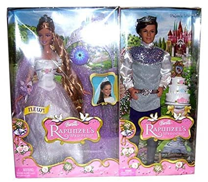 Barbie Rapunzel\u0027s Wedding Gift Set with Rapunzel and Prince Stefan  sc 1 st  Amazon.com & Amazon.com: Barbie Rapunzel\u0027s Wedding Gift Set with Rapunzel and ...