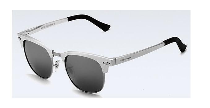 Retro unisex Veithdia de marca gafas de sol polarizadas protección UV para exterior y Moda Gafas