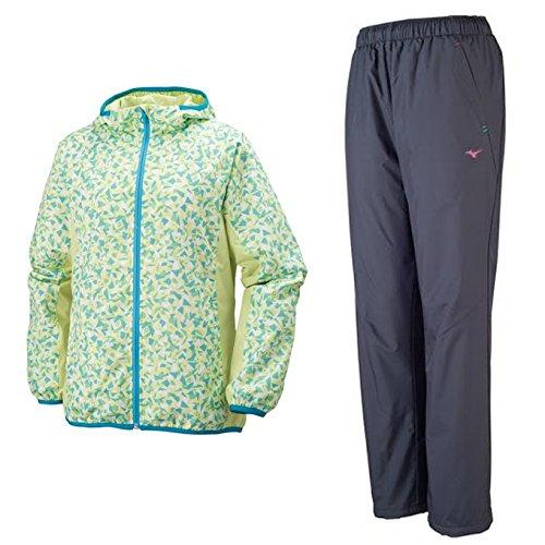 MIZUNO(ミズノ) ウインドブレーカーシャツ パンツ 上下セット 【レディース】 (32ME6310/32MF6310) B06Y4KBH5P XL Lグリーン×Cグレー(37/08) Lグリーン×Cグレー(37/08) XL