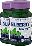 1000 mg bilberry - Piping Rock Bilberry Extract 1200 mg 2 Bottles x 100 Quick Release Capsules Dietary Supplement