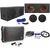 2 Kicker 44CVX104 CVX 10 Subwoofers+Sealed Sub Box Enclosure+Amplifier+Amp Kit