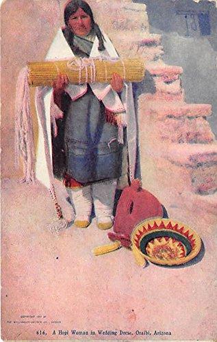 Hopi Woman in Wedding Dress Oraibi, Arizona, AZ, USA Indian Postcard