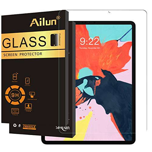 AILUN Screen Protector Compatible iPad Pro 12.9 Inch Display (2018 Release)[1Pack], 2.5D Tempered Glass,[Apple Pencil Compatible] Anti-Scratch,Case Friendly-Siania