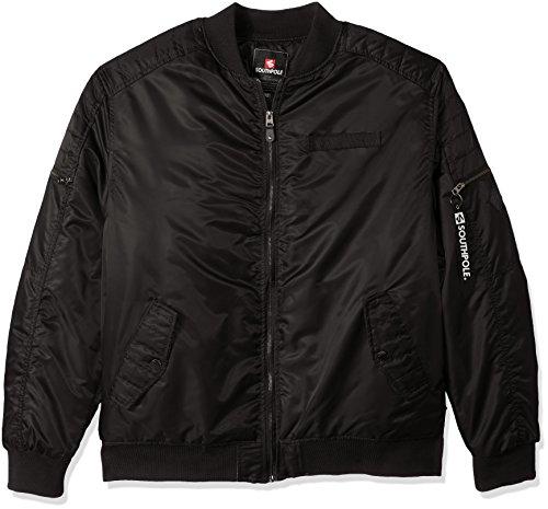 Southpole Men's Big & Tall Nylon Bomber Ma-1 Jacket With ...