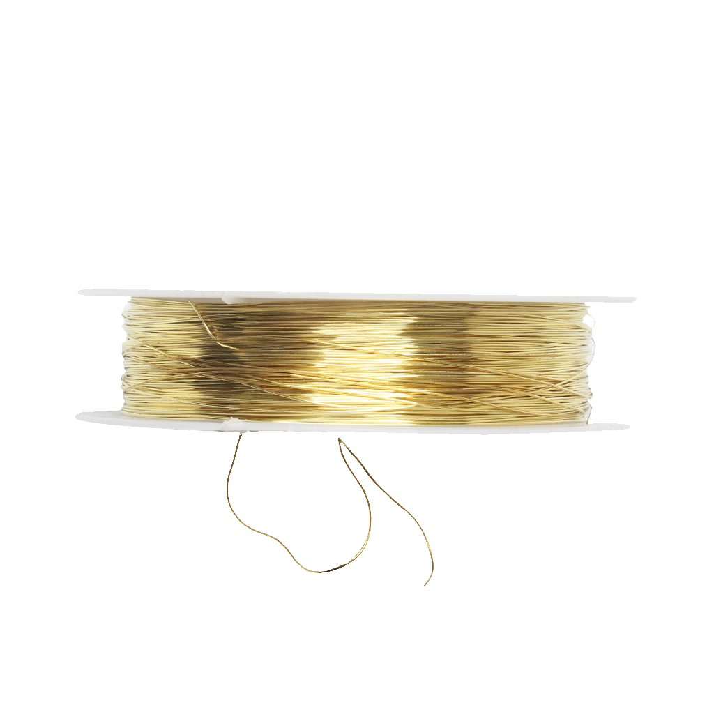 MonkeyJack 2 Rolls of 22 Meter Iron Wire for Jewelry Making DIY Bridal Hair Jewelry 0.3mm Gold Silver