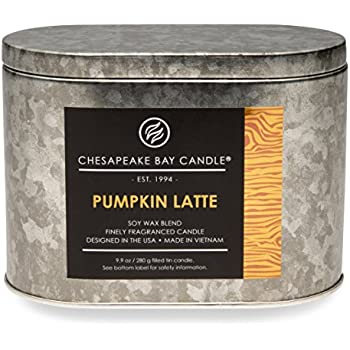 Chesapeake Bay Candle Heritage Collection Double Wick Tin Scented Candle, Pumpkin Latte