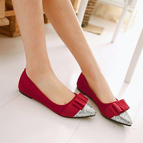 de Tamaño con Exing Zapatos Lentejuelas de Zapatos Alto Tacón Gran Mujer Rojo de con 5wRYHYXq